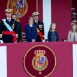 King Felipe, Queen Letizia, Princess Leonor and Infanta Sofia attend the National Day military parade; 12-10-2015