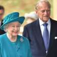 Queen Elizabeth and Prince Philip at the University of Surrey's news School of Veterinary Medicine; 15-10-2015