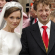 Prince Floris and Princess Aimee on their wedding day