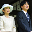 Princess Kiko and Prince Akishino during their visit to Ibirapuera Park; 28-10-2015