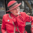 Queen Margrethe arrives for the opening of parliament; 06-10-2015