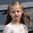Princess Leonor at the installation of her father as King of Spain