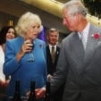The Duchess of Cornwall and the Prince of Wales during their visit to the Mahana Estates winery in Nelson, New Zealand; 07-11-2015