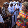 Queen Mathilde during her visit to Ethiopia with UNICEF; 11-11-2015