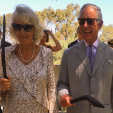The Duchess of Cornwall and the Prince of Wales during their walk in Kings Park' 15-11-2015