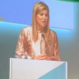 Queen Maxima delivers a speech at the opening of the finance forum; 15-11-2015