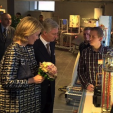 Queen Mathilde and King Philippe during their visit to Hainaut; 19-11-2015