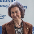 Queen Sofia during her visit to the Food Bank of Madrid; 25-11-2015