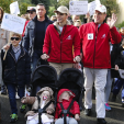 Prince Albert, Princess Charlene, Prince Jacques and Princess Gabriella during the Global Climate March in Monaco; 29-11-2015