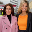 Crown Princess Mary and Queen Maxima arrive for the conference on domestic violence; 04-11-2015