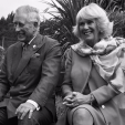 Prince Charles and Duchess Camilla share a laugh during a visit to an ecosanctuary while in New Zealand; 05-11-2015