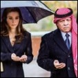 Queen Rania and King Abdullah at the memorial service; 09-10-2015