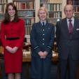 Prince Philip and the Duchess of Cambridge during the hand-over of the Air Commodore-in-Chief position of the RAF Air Cadets; 16-12-2015
