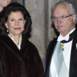 Queen Silvia and King Carl Gustaf attend the annual Swedish Academy formal gathering; 20-12-2015