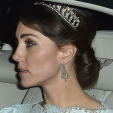The Duchess of Cambridge wearing Queen Mary's Lover's Knot Tiara