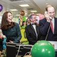 The Cambridges hit the phones at ICAP's charity day in London; 09-12-2015