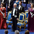 Members of the Swedish Royal Family at the Nobel Prize Ceremony in Stockholm; 10-12-2015
