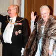 Prince Henrik and Queen Margrethe arrive for the New Year's Court; 01-01-2016