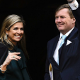 Queen Maxima and King Willem-Alexander arrive at the Royal Palace for the New Year's Reception; 12-01-2015