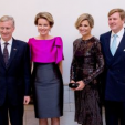 The Royal Couples of Belgium and the Netherlands at a concert to mark the beginning of the Dutch Presidency of the European Union Council; 22-01-2016