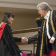 Princess Mako during her graduation ceremony at Leicester University; 20-01-2016