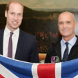 Prince William and Henry Worsley in October 2015