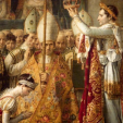Napoleon crowns his wife Josephine during their coronation in 1804
