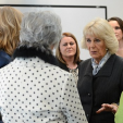 The Duchess of Cornwall speaks to women affected by domestic violence during a visit to SafeLives in London; 27-01-2016