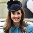The Duchess of Cambridge arrives for the RAF Cadets 75th anniversary service; 07-02-2016
