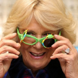 The Duchess of Cornwall tries a pair of vision glasses while in Peterborough; 03-02-2016