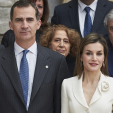 King Felipe and Queen Letizia during their visit to the Museo del Prado; 16-02-2016