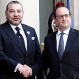 King Mohammed VI and President Hollande of France; 17-02-2016
