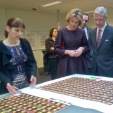 King Philippe and Queen Mathilde during their province visit to Antwerp; 25-02-2015