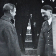 The Duke of Windsor and Adolf Hitler during a visit to Germany in 1937