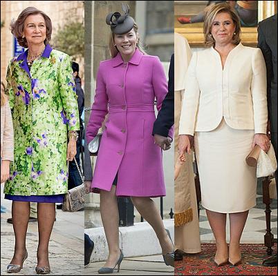 (L-R) Queen Sofia, Autumn Phillips and The Grand Duchess Maria Teresa.