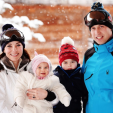 The Cambridges on vacation in the French alps
