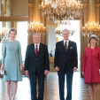 The Belgian Monarchs with the President of Germany