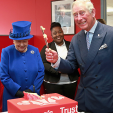 Queen Elizabeth and Prince Charles at the Prince's Trust anniversary visit