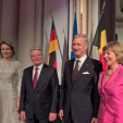 The Belgian Monarchs with the Presidential Couple of Germany