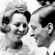Beatrix and Claus on their wedding day in 1966