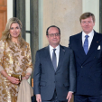 Queen Maxima, President Hollande and King Willem-Alexander