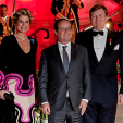 Queen Maxima, President Hollande and King Willem-Alexander at the return dinner