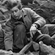 Prince Charles in 1968 on a dig in Jersey