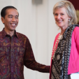 Princess Astrid and President Joko Widodo of Indonesia