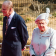 Prince Philip and the Queen during their visit to the London Zoo; 17-03-2016