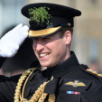The Duke of Cambridge attends the St Patrick's Day parade with the Irish Guards; 17-03-2016