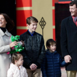 The Danes at the opening of the new Legoland exhibit; 19-03-2016