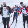 Crown Prince Haakon and Crown Prince Frederik at the start of the race; 19-03-2016