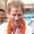 Prince Harry on his second day in Nepal