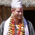 Prince Harry during his third day in Nepal